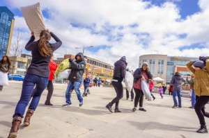 International Pillow FIght Day Kitchener Waterloo 2014